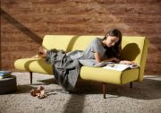istyle-2015-unfurl-sofa-bed-554-soft-mustard-flower-sofa-position-model