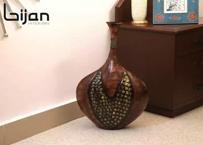 Copper Flower Vase - Living Room Decor