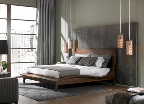 Pendant lighting in bedroom