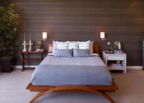Sconce lights in bedroom